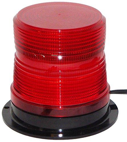 North American Signal LEDFL375-R High-Intensity Single Flash LED Beacon, Permanent Mount, Red