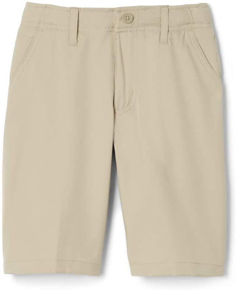 French Toast Boys' Flat Front Performance Stretch Short