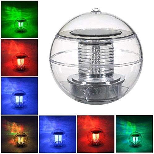 Swonuk Pool Lights Solar LED Lamp Globe Light Waterproof 7 Color Floating Swimming Pond Lights