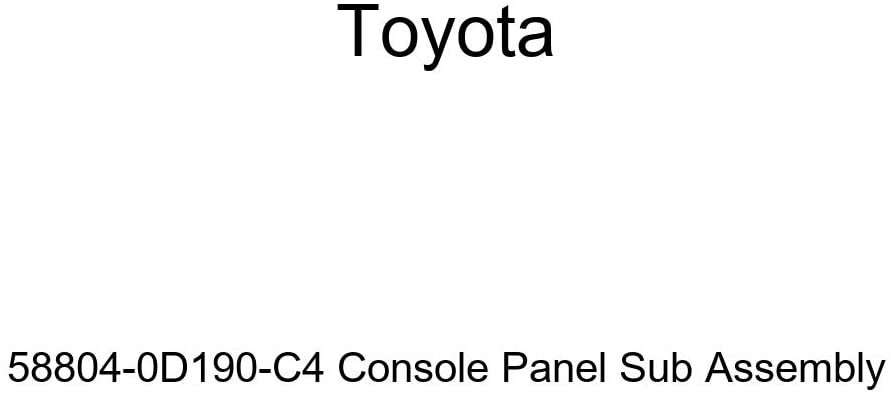 TOYOTA Genuine 58804-0D190-C4 Console Panel Sub Assembly