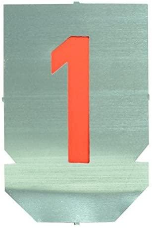 Set of Metal Lettering Stencils - Numbers 0-9 - 80mm