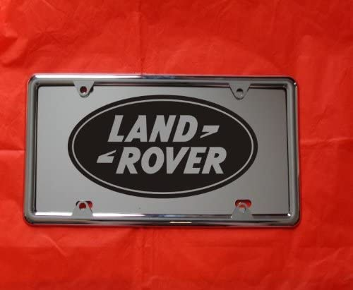 HotSpotBuys Land Rover Laser Engraved Mirror License Plate Free Frame