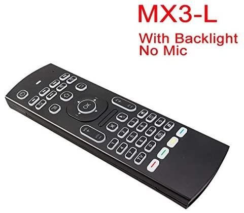 Calvas MX3 MX3-L Backlit Air Mouse Smart Voice Remote Control 2.4G RF Wireless Keyboard For X96 mini Xiaomi MI TV BOX Android TV Box - (Color: MX3-L)