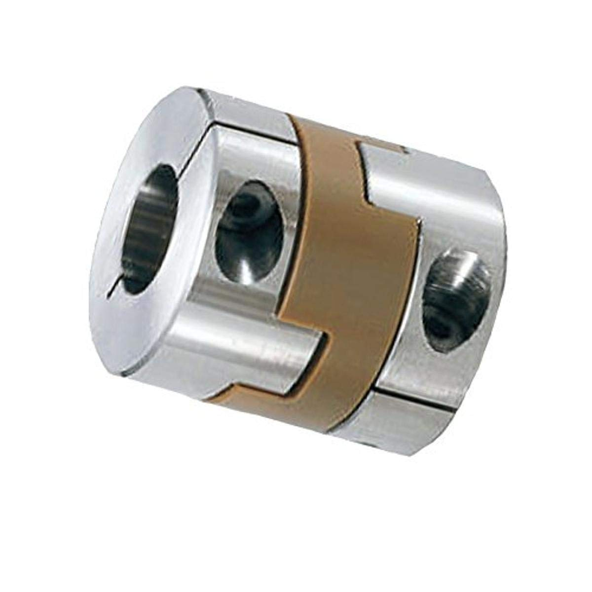 NBK MOP-32C-12-14 Oldham Cleanroom/Vacuum/Heat Resistant Coupling, PEEK, Clamping Type, Bore Diameters 12 and 14 mm, Aluminum A2017