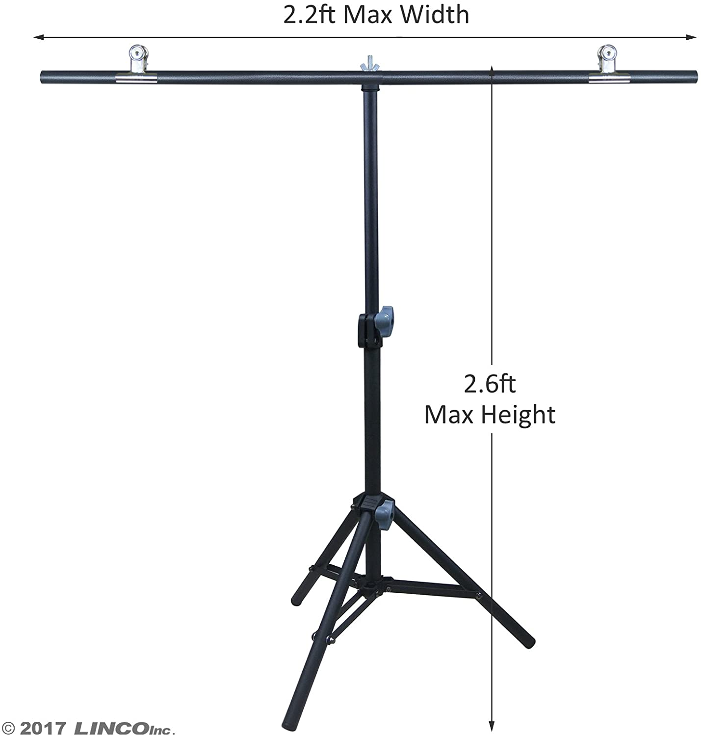 Linco Lincostore Photography PVC Backdrop Background Small Support Stand System Metal 2.2ft Wide 2.6ft High
