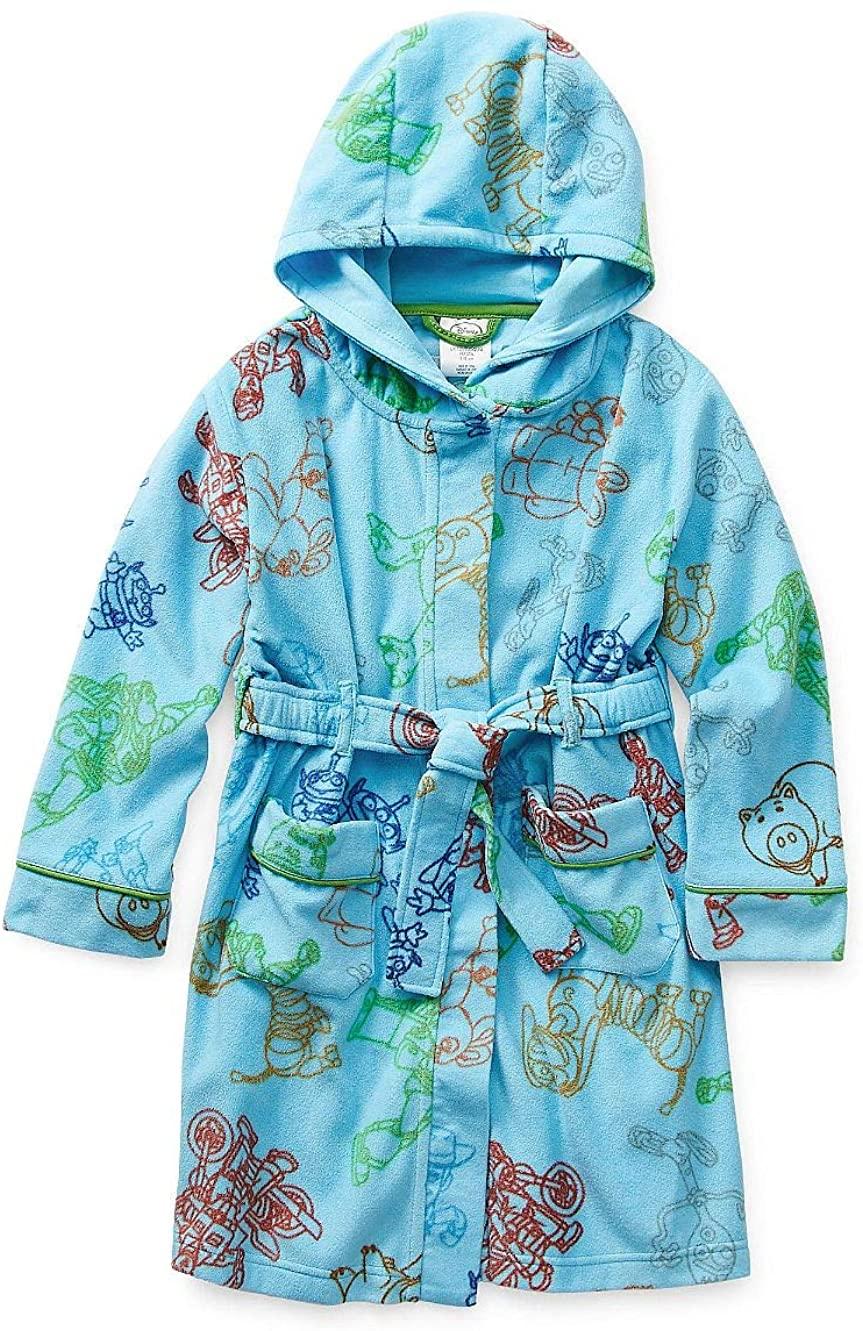 Toy Story 4 Boy's Blue Fleece Character Bathrobe, Robe