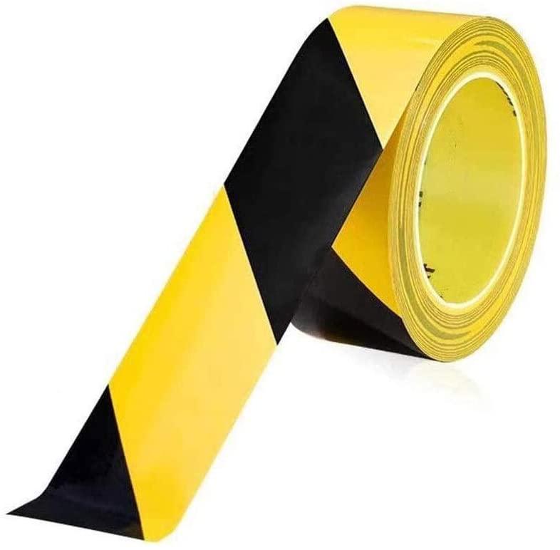 Warning Tape High Wear Resistance Ground Tape Warning Isolation Zebra Tape Tape PVC Floor Tape 0612 (Color : Yellow Black)