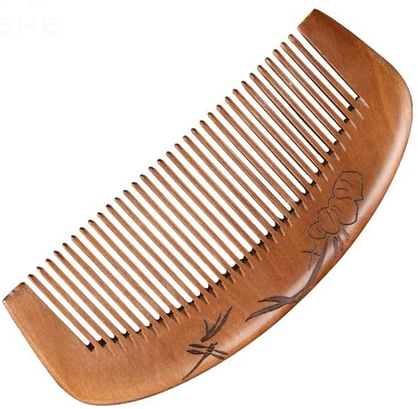 YAXY Mini Creativity Multifunctional Wooden Comb, Natural Environmentally Friendly Material, Hand-Made Carved Design, Comfortable Handle, Anti-Static Sandalwood Scent handmad Polished Pocket