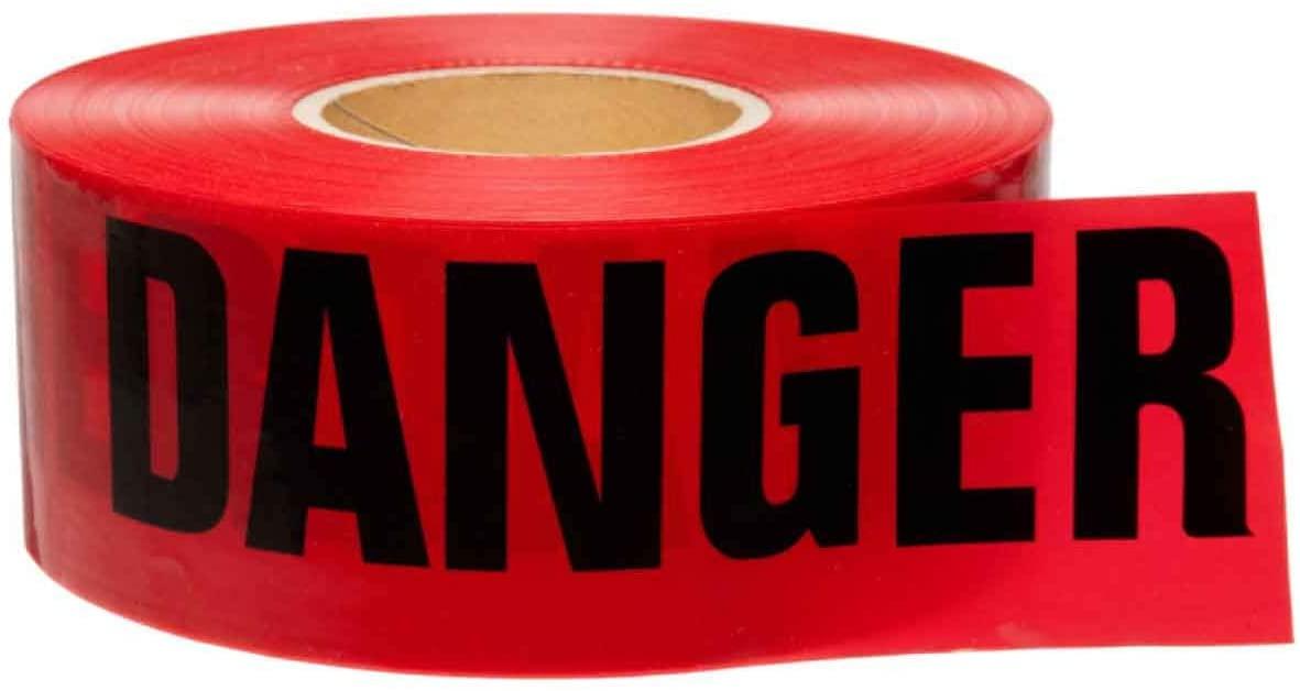 PRESCO B31022R21 Red DANGER tape