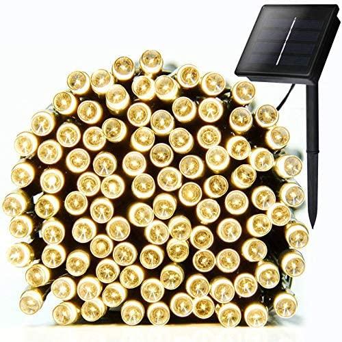 1Set 10M 100 LED Solar Powered Rope Tube String Fairy Lights Outdoor Garden Xmas Lamp Warm White Light