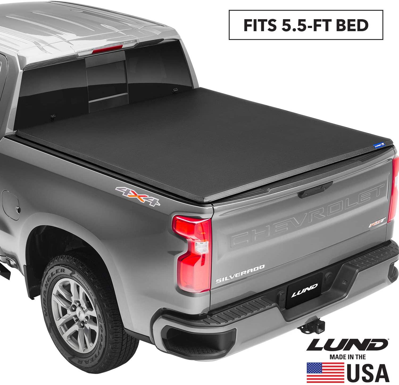Lund Genesis Tri-Fold, Soft Folding Truck Bed Tonneau Cover | 95082 | Fits 2017 - 2020 Nissan Titan w/o track system 5' 5