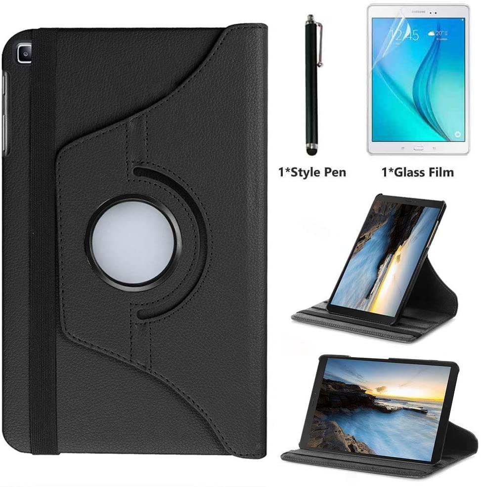 for Samsung Galaxy Tab S5e 2019 10.5 inch Case (SM-T720 SM-T725) - 360 Degree Rotating Stand Case Full Protective Smart Cover,Bonus Stylus Pen,Screen Film (Black)