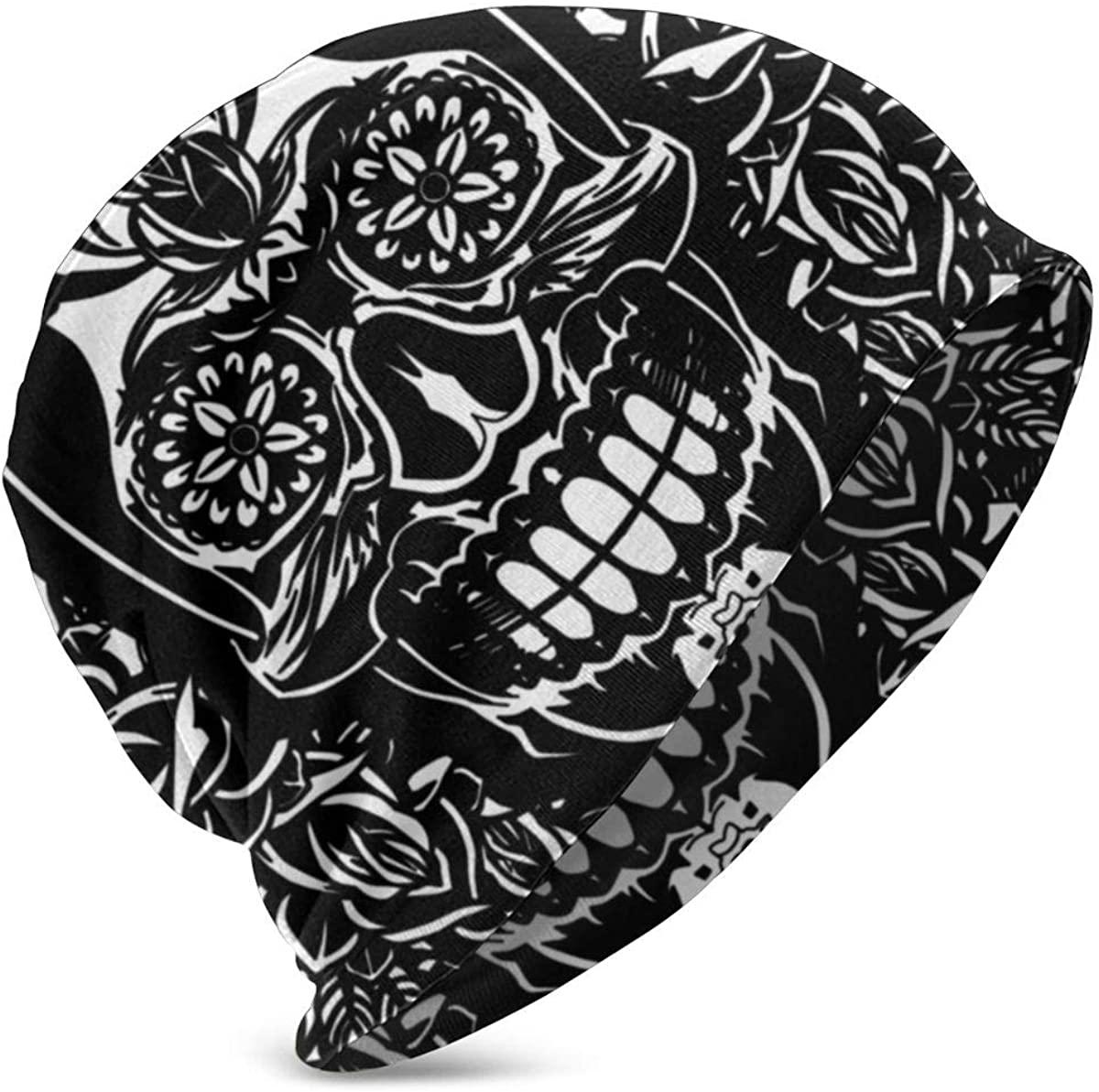 PETER HONG Fashion Beanie Hat Skull Hat, Multipurpose Earmuffs Hat Chemo Hat (Skulls)