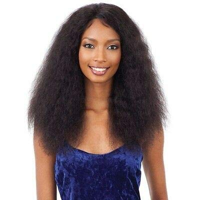 Naked Nature Unprocessed Remy Human Hair Wet & Wavy Lace Front Wig - DEEP CURL