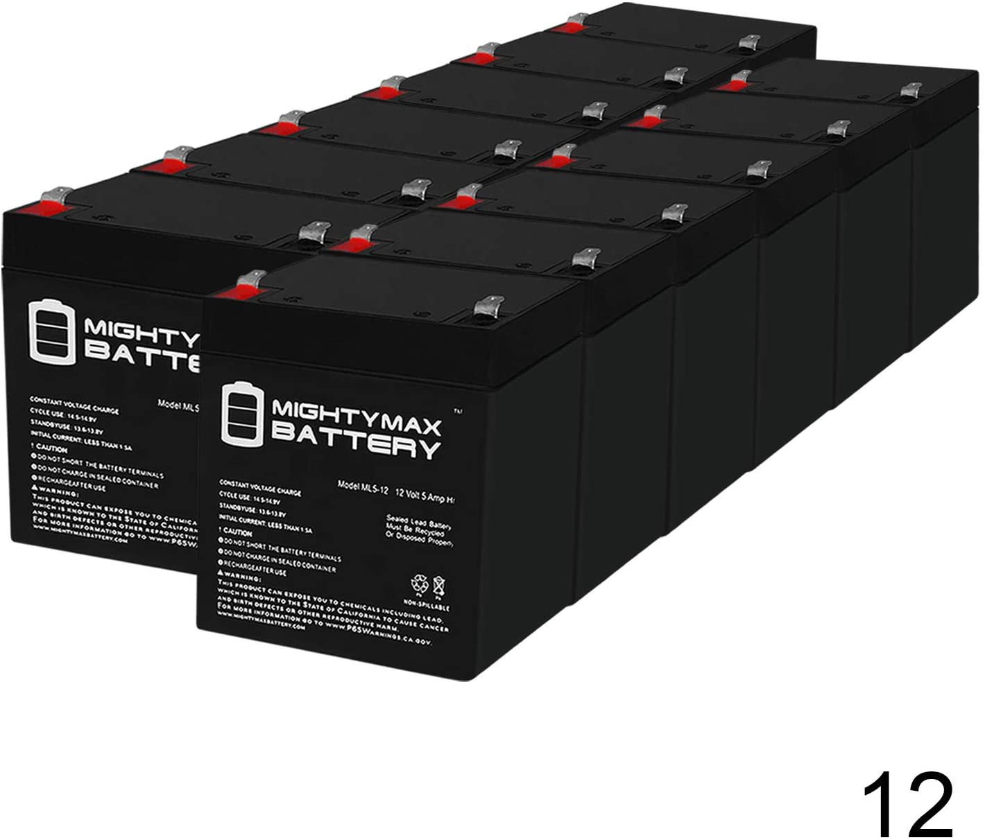 Mighty Max Battery 12V 5Ah Compatible Battery for RBC20J APC UPS - 12 Pack Brand Product