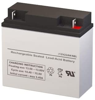 GS Portalac TEV12210 Replacement Battery - 12 Volt 22AH NB Terminal by SigmasTek