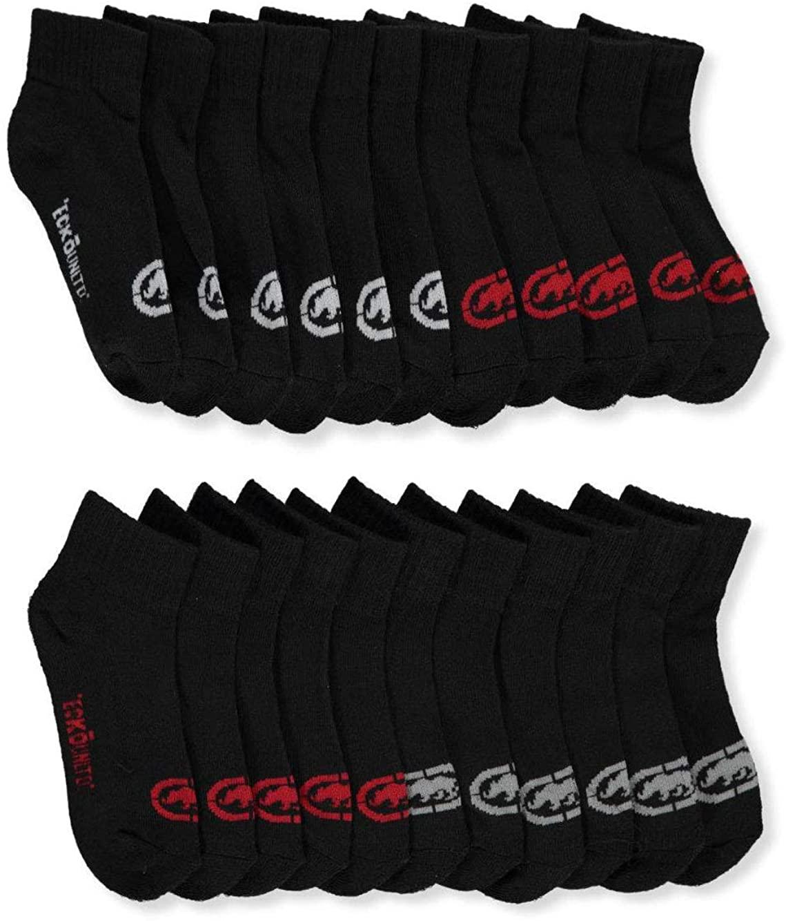 Ecko Unltd. Boys' 11-Pack Quarter Socks