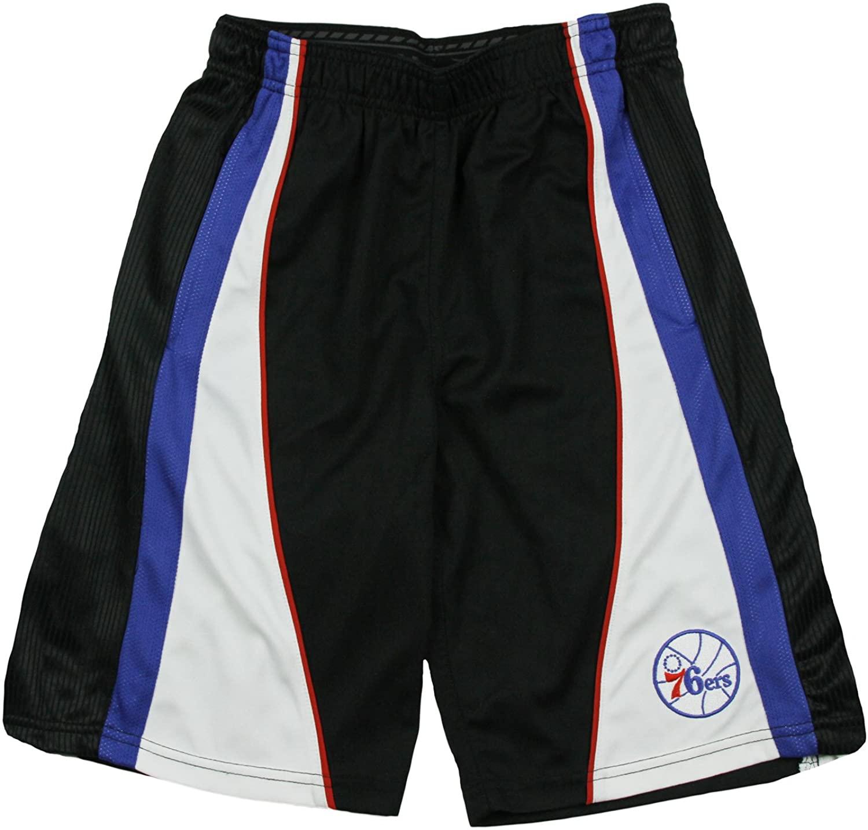 Zipway Philadelphia 76ers NBA Youth Black Mesh Shorts