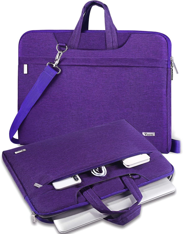 V Voova Laptop Sleeve Messenger Bag 14 15.6 inch,Slim Chromebook Case Bag with Shoulder Strap Compatible for 16