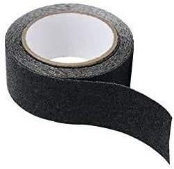 Waterproof DIY Anti Slip Tape High Traction Safety Track Tape,Decking Self Adhesive Emergency Home Bathroom Floor Safety for Stairs Warning Wear Resistant Tape Black 407