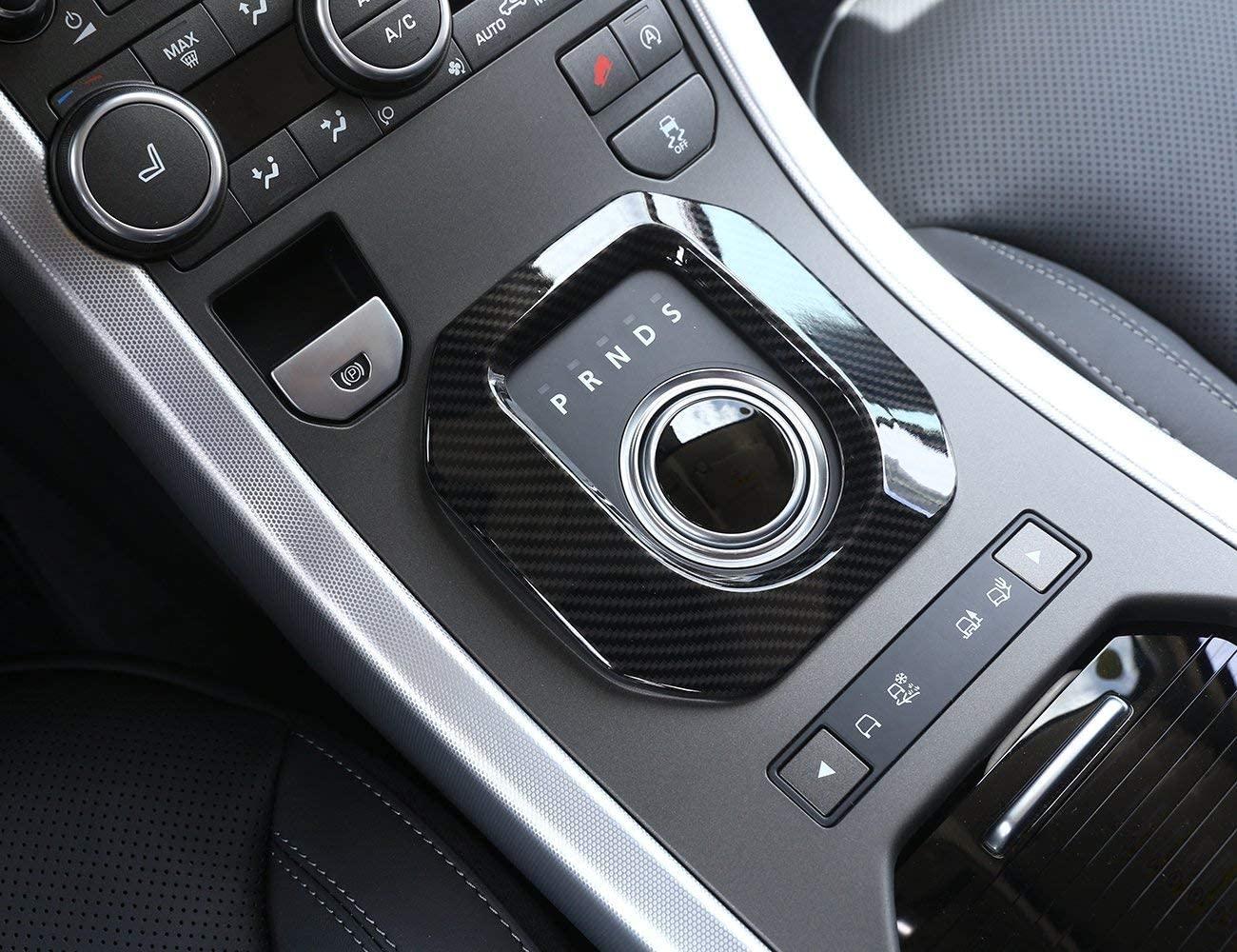 LLKUANG ABS Center Console Matte Gear Shift Panel Cover Trim for Land Rover Range Rover Evoque 2014-2018 (Carbon Fiber)