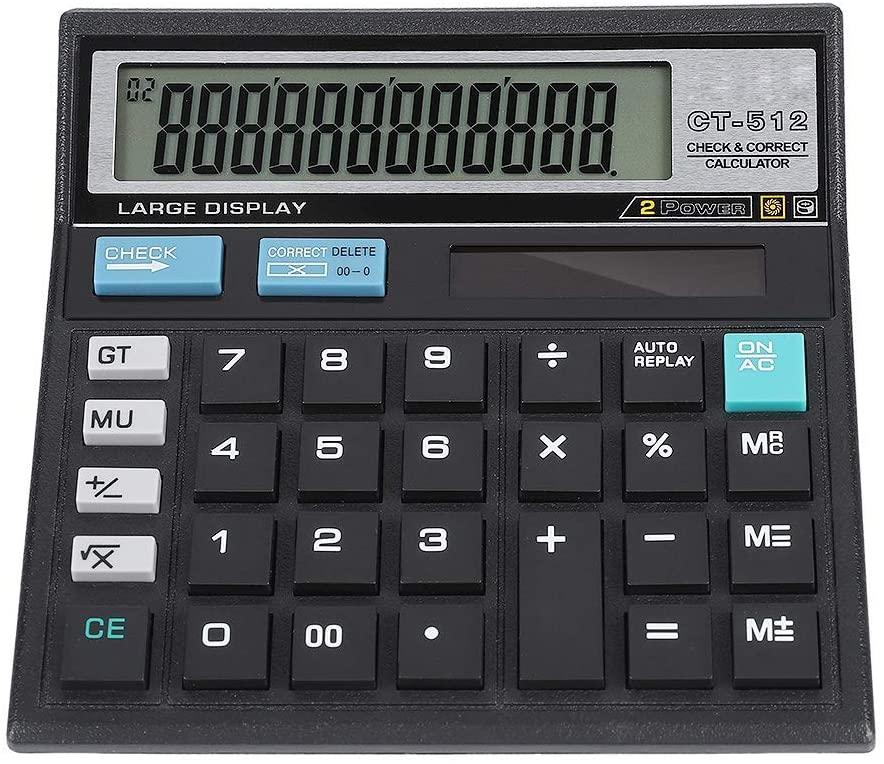 Delaman Solar Scientific Calculator, Former Data Check Solar Scientific Calculator 12-bit Large Screen Precise Data with Solar Charging Mode