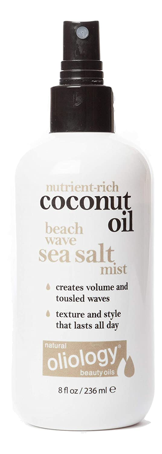 Oliology Coconut Oil Beach Wave Sea Salt Mist Spray - Creates Volume and Tousled Waves, Texture and Style that Lasts All Day (8 Oz)
