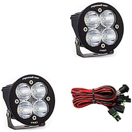 Baja Designs Squadron-R PRO Pair UTV LED Light Spot Led Pattern