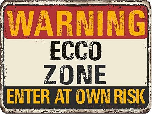 ECCO Warning You are Entering Zone Rustic Vintage Look 6 Wide Magnet for use on Any Steel Surface