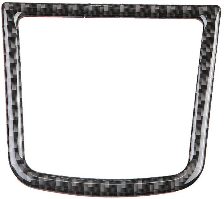Hlyjoon Car Console Storage Box Cover Trim Carbon Fiber Style, Center Control Armrest Storage Box Panel Frame Decor Sticker Fit for Mazda 3 Axela 2013 2014 2015 2016