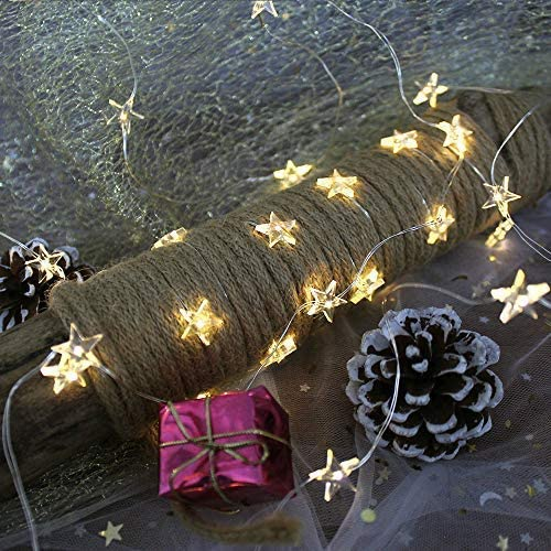 Onemore Small Star Fairy String Lights, 10FT 30 LEDs Christmas Decorations Battery Powered Indoor Outdoor Lights for Girls Bedroom, Fence, Princess Castle Play Tents, All Festivals Fantasy Decoration