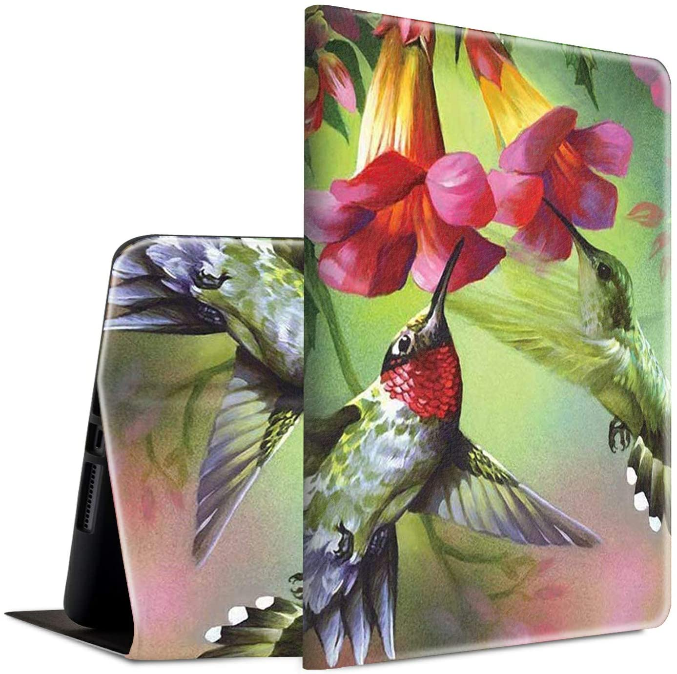 New iPad Pro 11 Case 2020, Spsun Lightweight PU Leather Folio Adjustable Stand with Auto Wake/Sleep Smart Protect Case for Apple iPad Pro 11 inch 2nd Generation - Hummingbirds