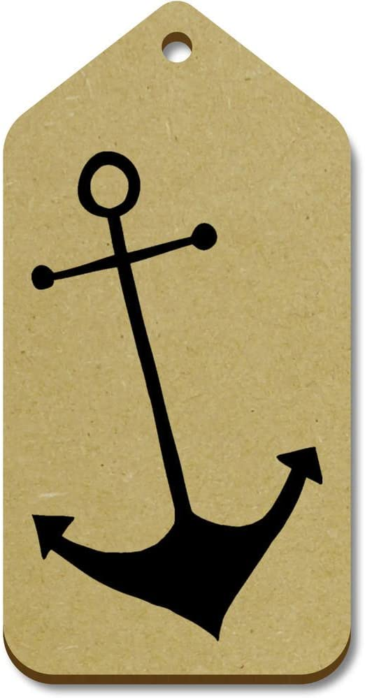 10 x Large 'Anchor' Wooden Gift Tags (TG00015323)
