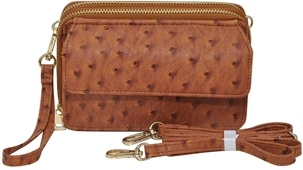 Ostrich Light Brown NGIL All in One Wallet