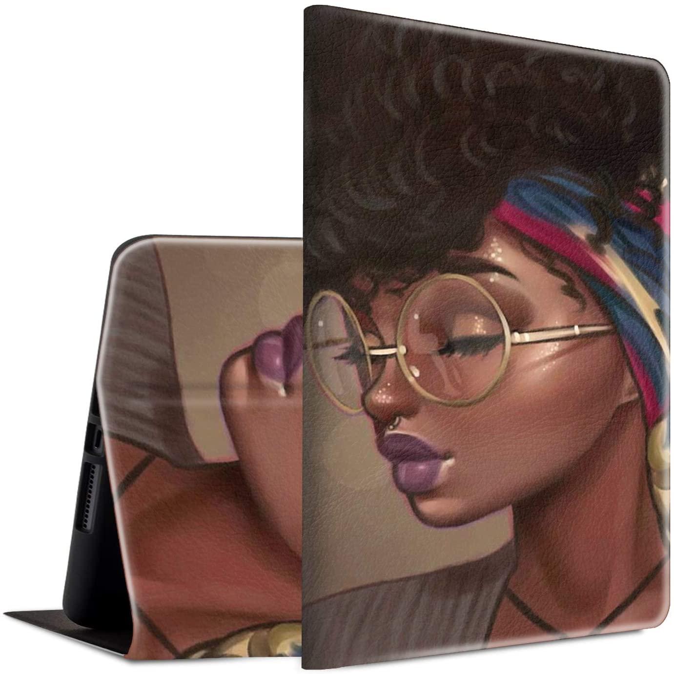 iPad Pro 10.5 / iPad Air 3 2019 Case, Spsun Lightweight PU Leather Folio Adjustable Stand with Auto Wake/Sleep Smart Protect Case for Apple iPad Air 3/ iPad Pro 10.5 - Afro Hair Black Girl
