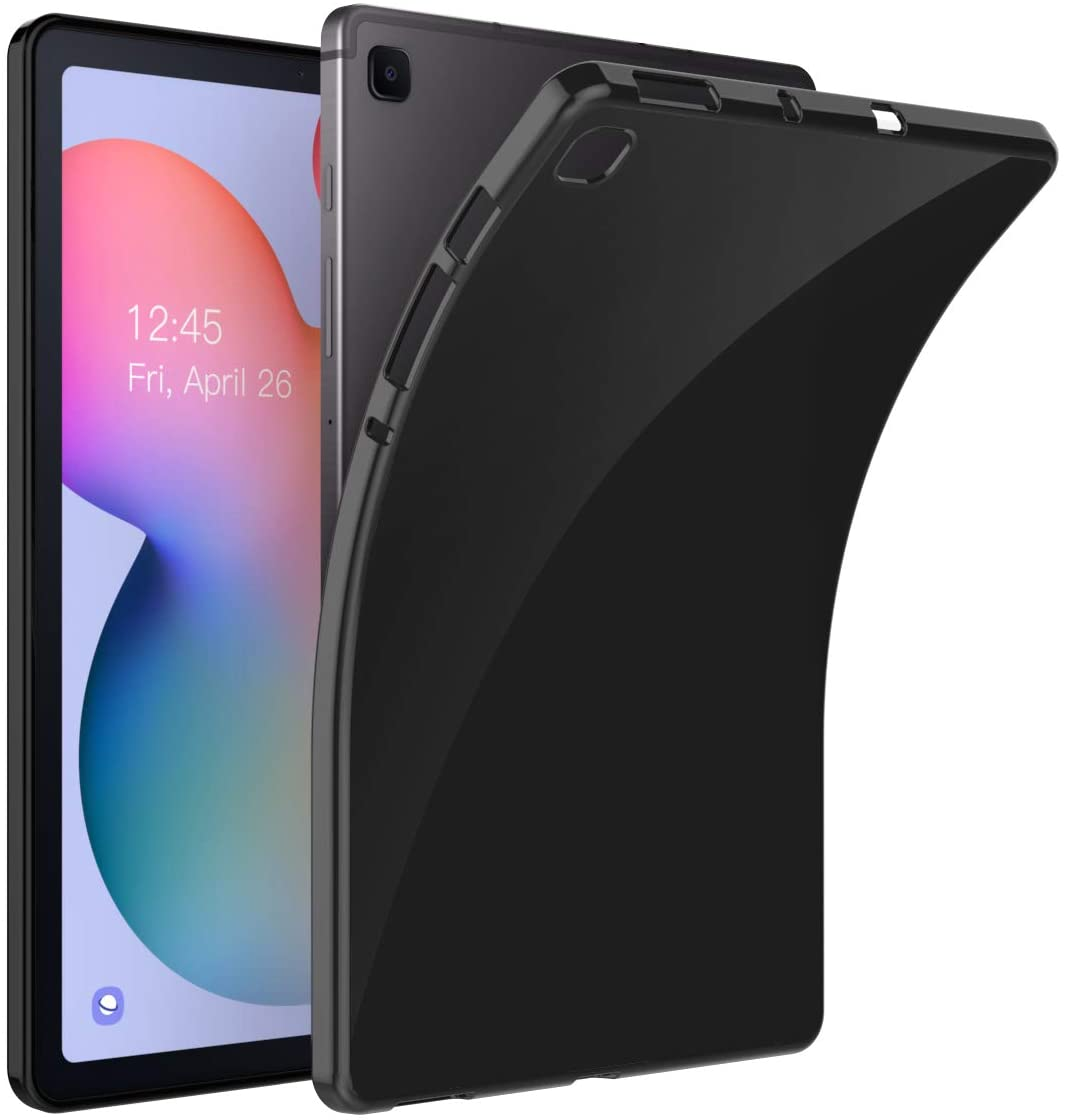 MoKo Case Compatible with Galaxy Tab S6 Lite 2020, TPU Shock-Proof Soft Flexible Smart Tablet Shell Cover Case Fits Samsung Galaxy Tab S6 Lite 10.4 2020 SM-P610/P615 ONLY – Black