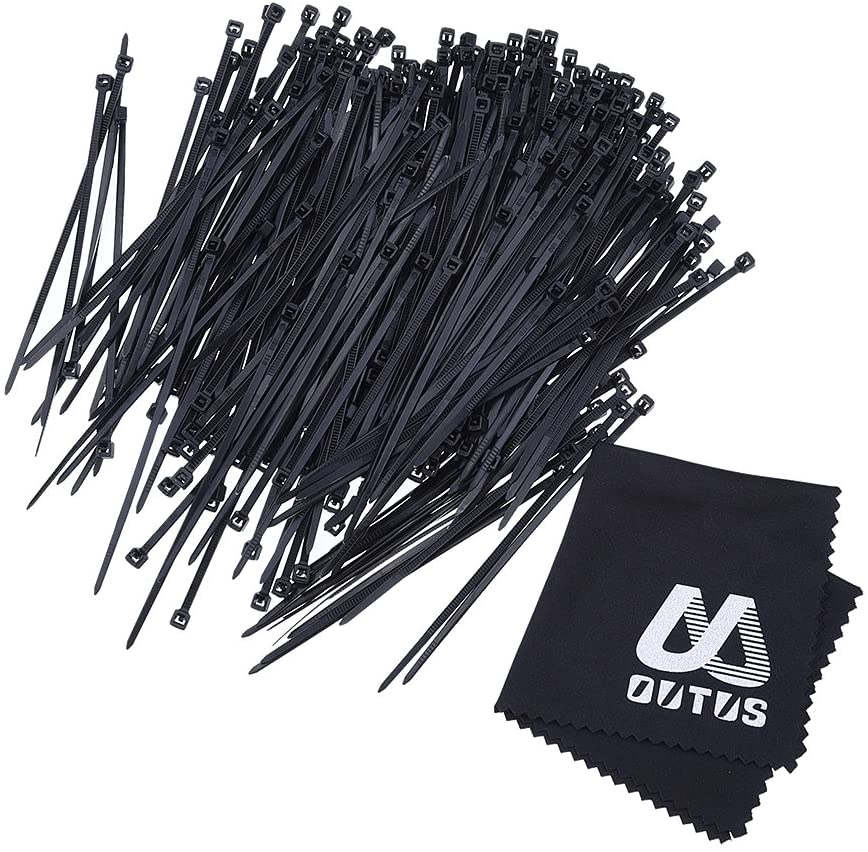 Outus 6 Inch Nylon Cable Ties Zip Ties Self-Locking, 1000 Pack