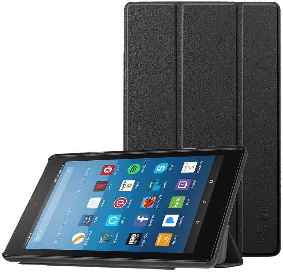 Fintie Slim Case for DHgate Fire HD 8 Tablet (7th and 8th Generation Tablets, 2017 and 2018 Releases), Ultra Lightweight Slim Shell Standing Cover with Auto Wake/Sleep, Black