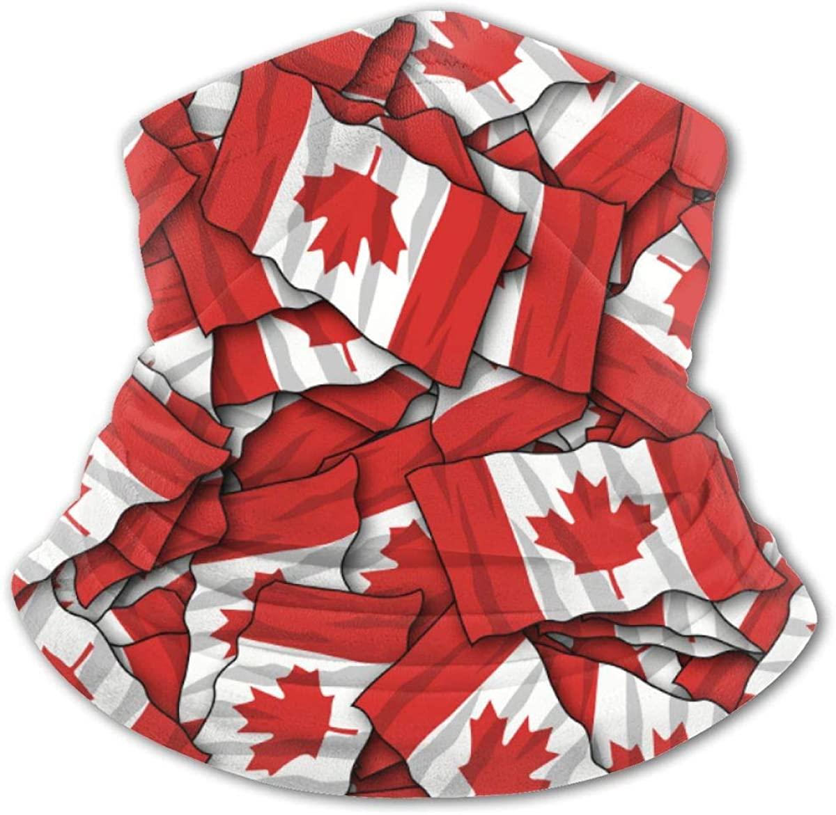 Canadian Flag Headwear For Girls And Boys, Head Wrap, Neck Gaiter, Headband, Tenn Fishing Mask, Magic Scarf, Tube Mask, Face Bandana Mask For Camping Running Cycling