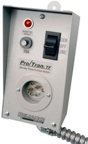 Reliance Controls TF151W Easy/Tran Transfer Switch for Generators, Small, Gray