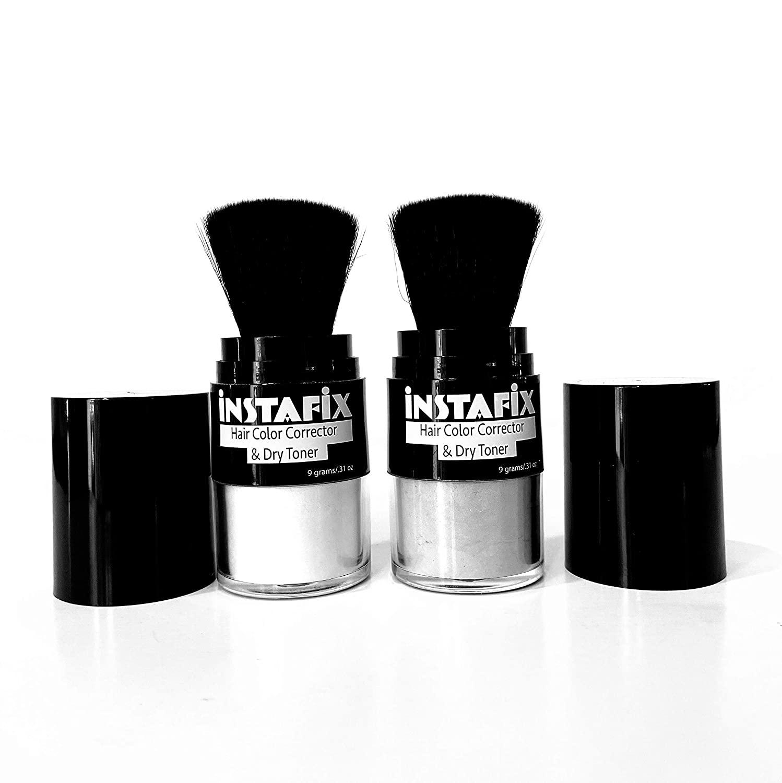 Instafix Instant Blonde Hair Color Corrector and Dry Toner Bundle Platinum Pop and Brass Neutralizer