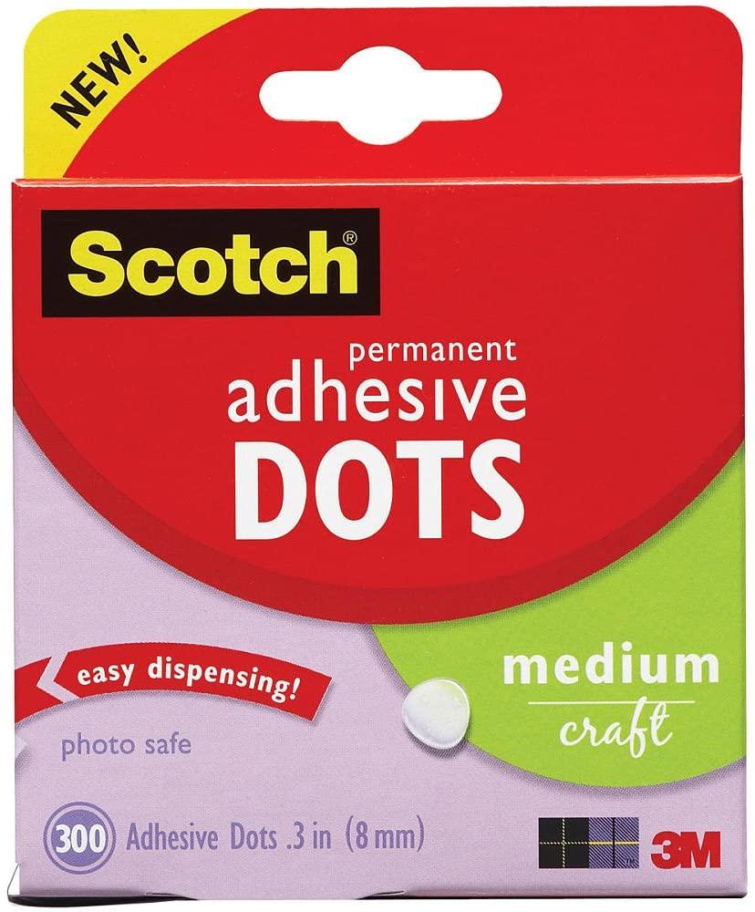 Adhesive Dots, Medium Craft, .3
