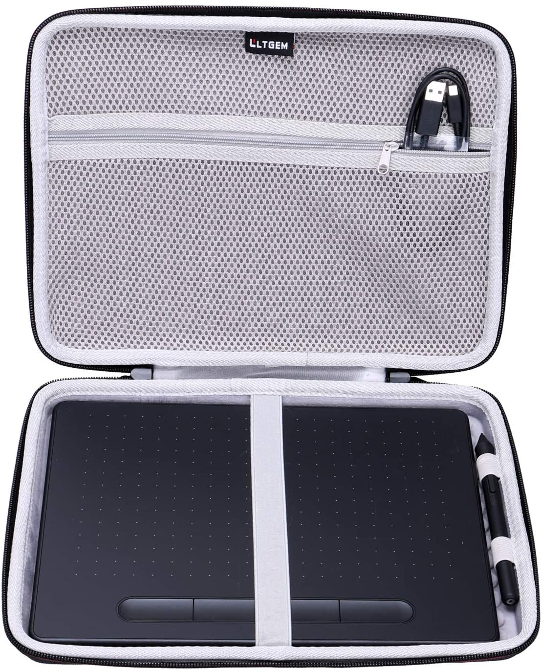 LTGEM EVA Hard Case Fit for Wacom Intuos Wireless Graphic Medium Tablet, Size 10.4