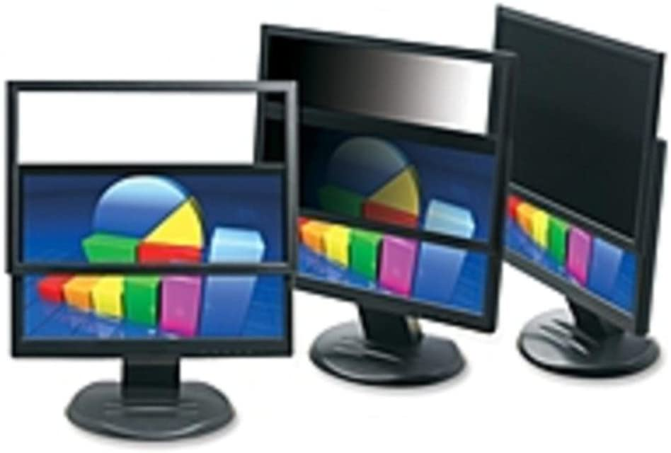 3M PF324W9 Framed Privacy Filter for Widescreen Desktop LCD Monitor Black - 24 inch Monitor