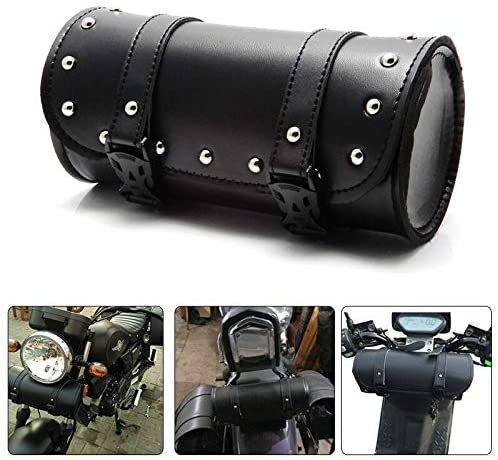 AKDSteel 1set Motorcycle Handlebar Sissy Bar Bag Saddlebag Fork Roll Barrel Bag for Touring auto Part