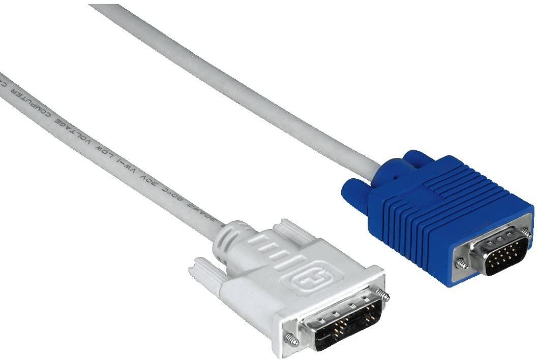 Hama 1.8 m 15 Pin HDD/VGA Plug to DVI Analogue/Digital Plug DVI Adapter Cable