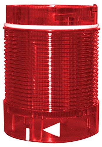 Tower Stack Light, 50mm, Lens Module, 24V AC/DC, Rotating LED, Red