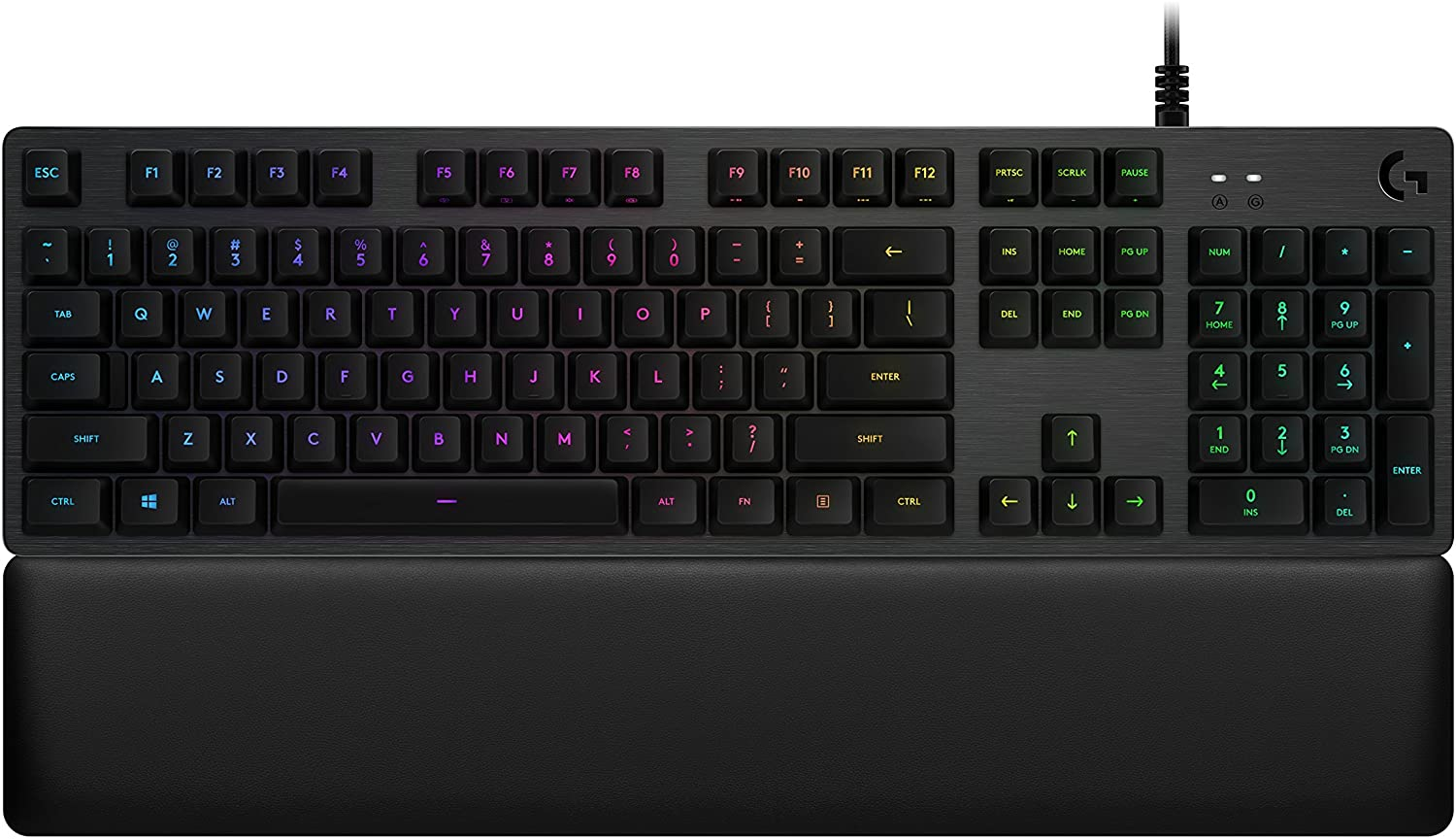 Logitech G513 RGB Backlit Mechanical Gaming Keyboard with Romer-G Linear Keyswitches (Carbon)