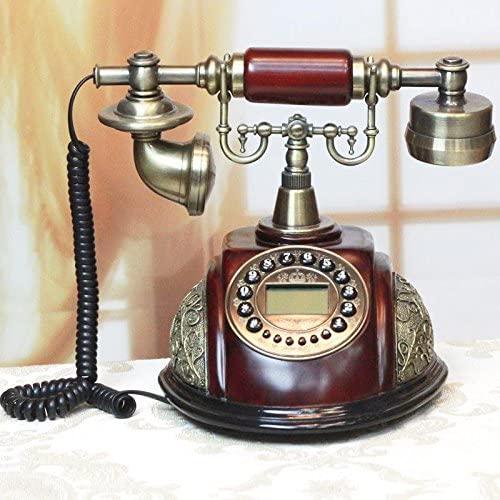 PST@ Retro Vintage antique style buttons dial desk phone home living room decoration