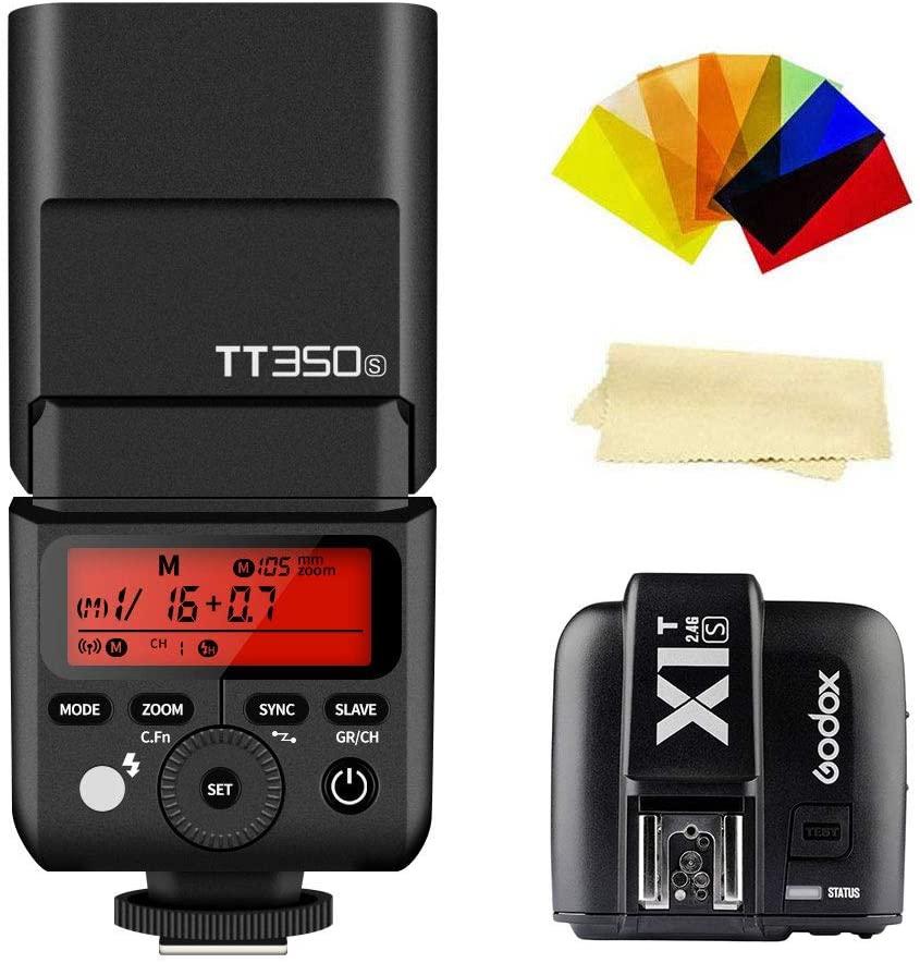 Godox TT350S 2.4G TTL GN36 1/8000s High-Speed Sync Camera Flash Speedlite Light & Godox X1T-S Wireless Flash Trigger Transmitter Compatible for Sony DSLR Camera